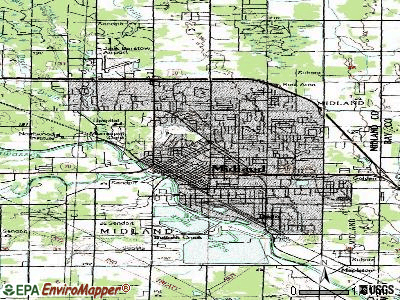 Midland topographic map