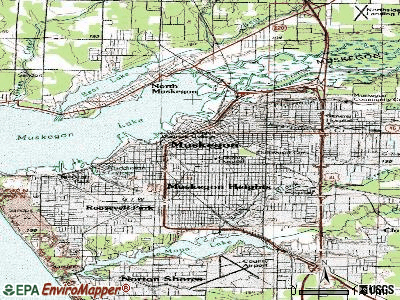 Muskegon topographic map