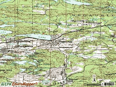 Negaunee topographic map