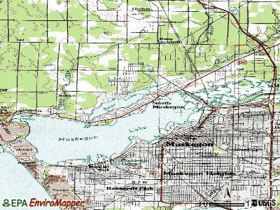 North Muskegon topographic map