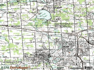 Novi topographic map