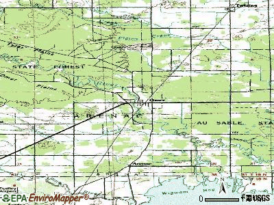 Omer topographic map