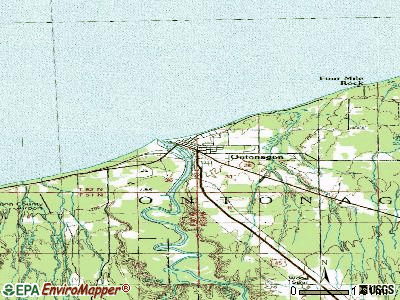 Ontonagon topographic map