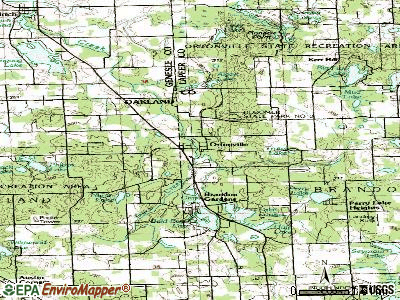 Ortonville topographic map