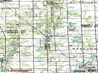 Otter Lake topographic map