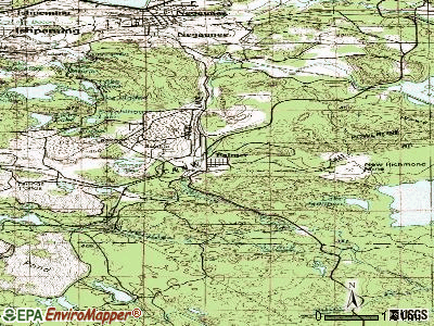 Palmer topographic map