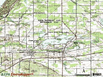 Paw Paw Lake topographic map