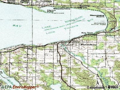Petoskey topographic map