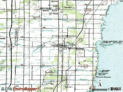 Pinconning topographic map