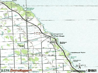 Port Hope topographic map