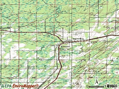 Powers topographic map