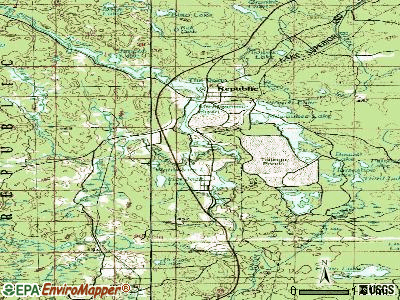 Republic topographic map