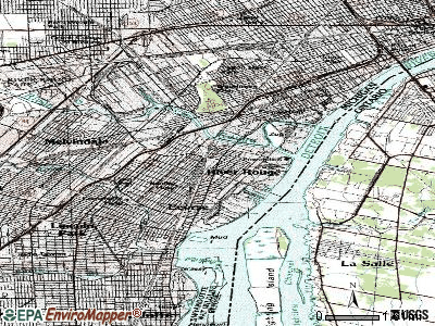 River Rouge topographic map
