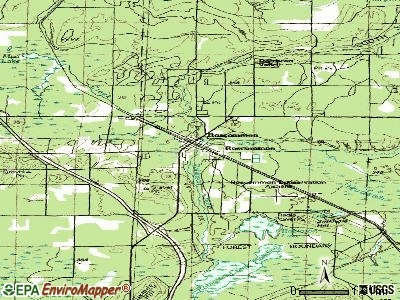 Roscommon topographic map