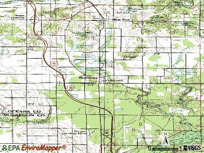 Rothbury topographic map