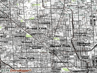 Royal Oak topographic map
