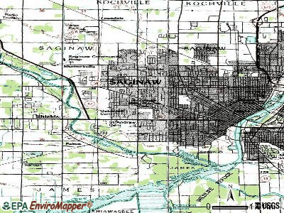 Saginaw Township South topographic map