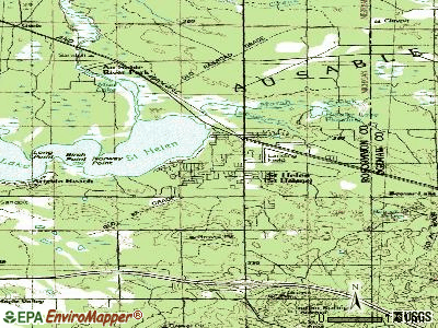 St. Helen topographic map