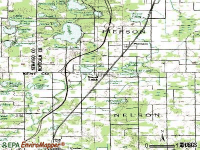 Sand Lake topographic map