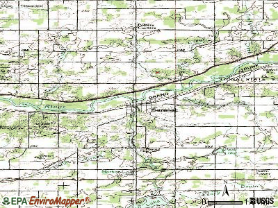 Saranac topographic map