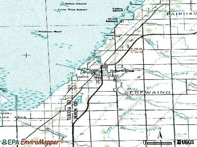 Sebewaing topographic map