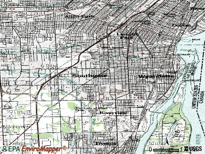 Southgate topographic map