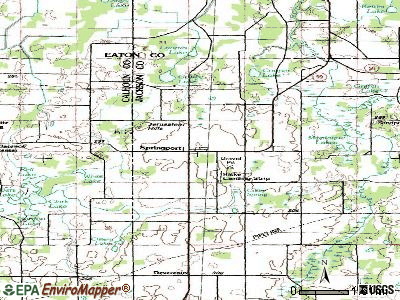 Springport topographic map