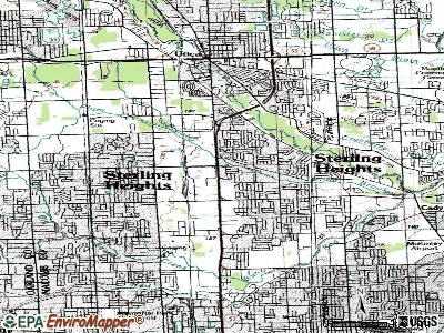 Sterling Heights topographic map