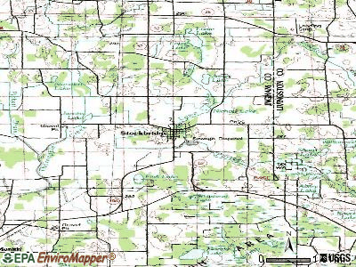 Stockbridge topographic map