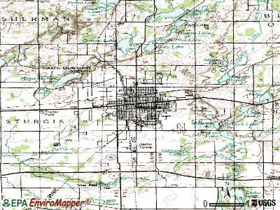 Sturgis topographic map