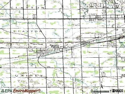 Swartz Creek topographic map