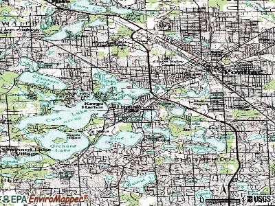 Sylvan Lake topographic map