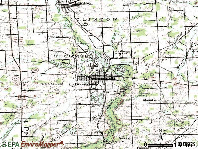 Tecumseh topographic map