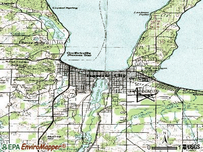 Traverse City topographic map