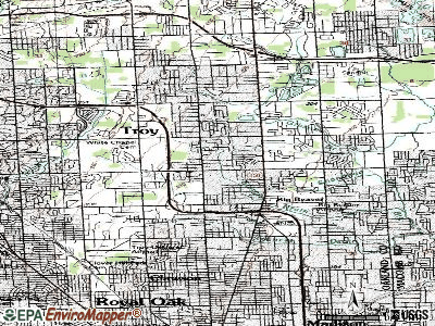 Troy topographic map