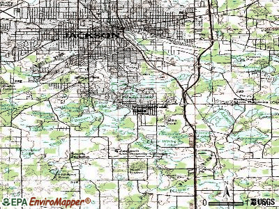 Vandercook Lake topographic map