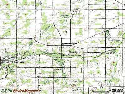 Vermontville topographic map