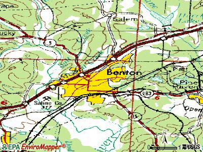Benton topographic map