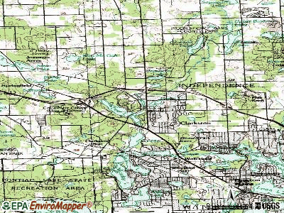Village of Clarkston topographic map