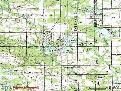 Village of Lake Isabella topographic map