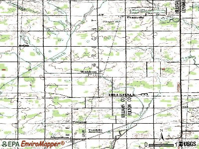 Waldron topographic map
