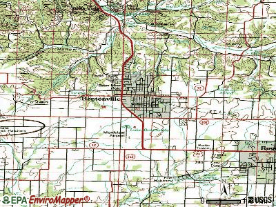 Bentonville topographic map
