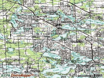 Watervliet topographic map