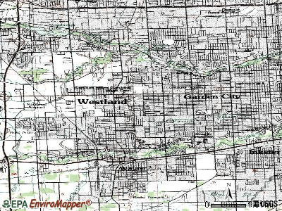 Westland topographic map