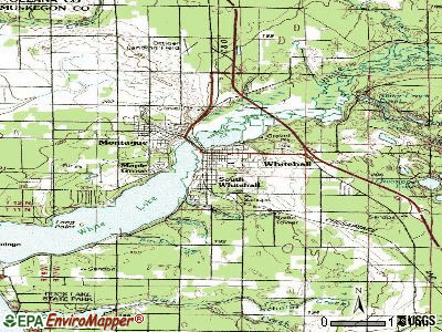 Whitehall topographic map