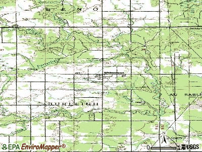 Whittemore topographic map
