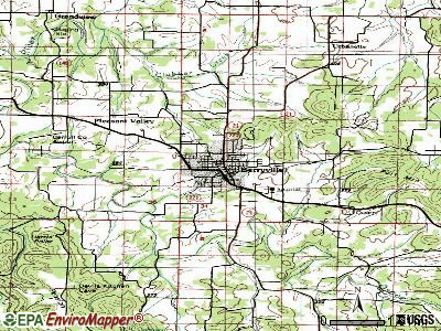Berryville topographic map