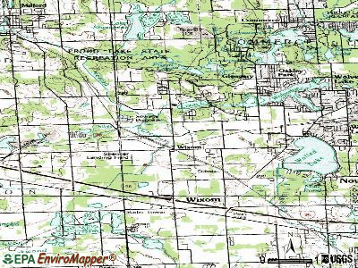 Wixom topographic map