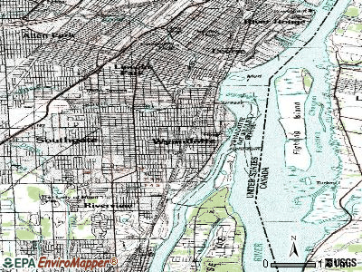 Wyandotte topographic map
