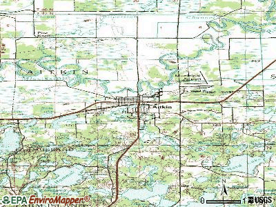 Aitkin topographic map